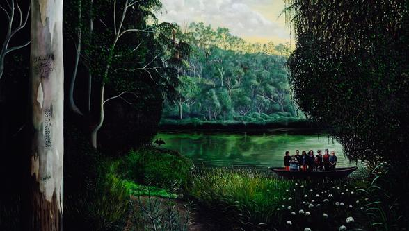 Anne Wallace painting extract | Queensland Mental Health Commission