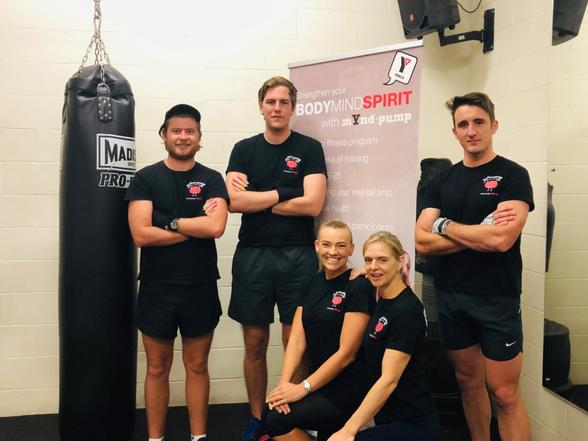 Jayden Parsons (right) with his YMCA mYnd-pump program colleagues