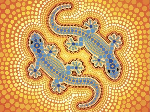 Lizard Dot Painting Queensland Mental Health Commission