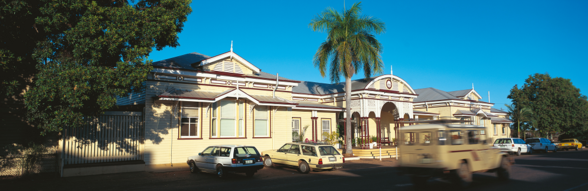 Railway Station, Emerald. Photo courtesy of Tourism and Events Queensland