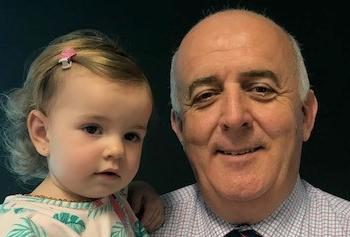 Commissioner Ivan Frkovic and granddaughter Lucija