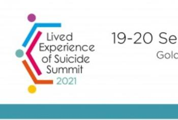 Lived experience of suicide summit 2021 graphic
