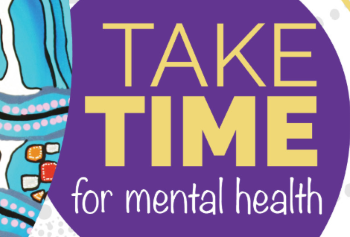 Take time for mental health graphic