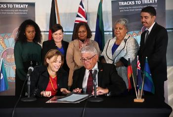 Signing of Statement of Commitment - Tracks to Treaty