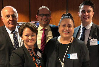 Ivan Frkovic and Leanne Geppert of the Commission; David Janetzki MP—Member for Toowoomba South; Nunzia Confessore and Zachary Wright of Help Enterprises.