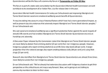 MEDIA RELEASE_Toowoomba consultation on Aboriginal and Torres Strait Islander mental health and wellbeing_pic_Page_1