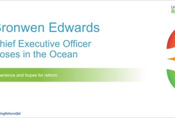 Leading Reform 2018 video :: My experience and hopes for reform, Bronwen Edwards