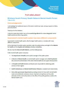 PIC_SPEECH_Brisbane South PHN Mental Health Forum