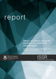 ISSR Review of systemic issues for social housing clients with complex needs