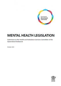 QMHC Mental Health Bill Submission to Parliament