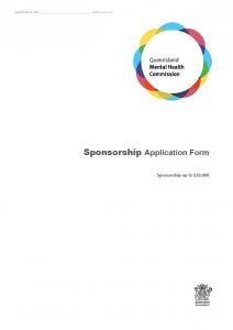 Sponsorship Application Form