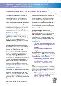 Image of flyer - mental health and wellbeing hubs initiative